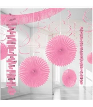 Amscan  Licht roze versiering pakket