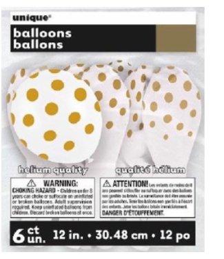 Ballonnen stip wit - goud