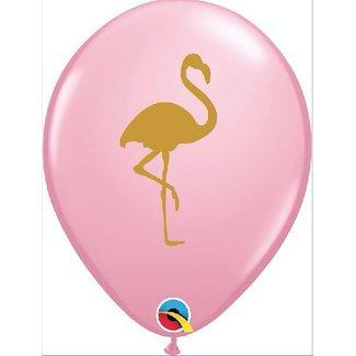 Flamingo ballonnen pastel roze