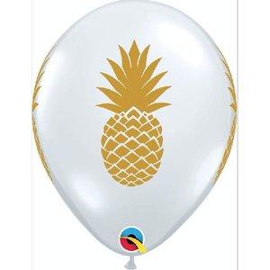Ananas ballonnen goud