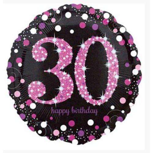 30 jaar folie ballon roze