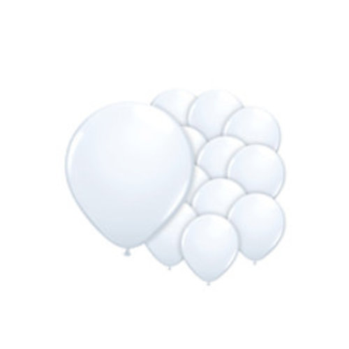 Witte ballonnen mini