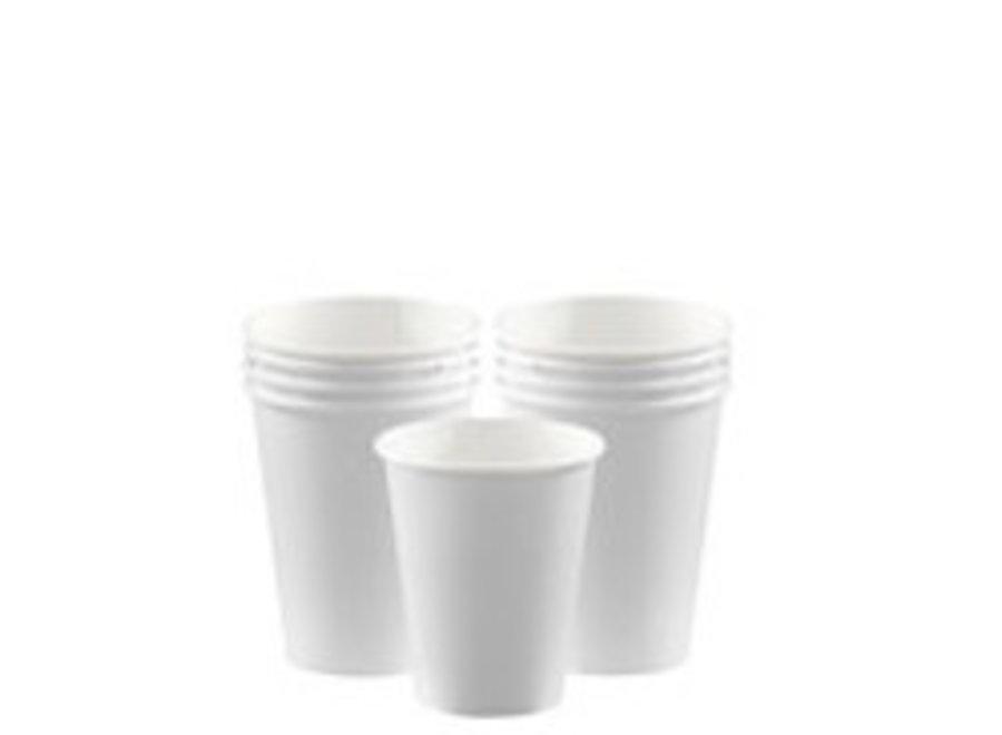 Witte koffie bekers