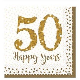 50 jaar huwelijk servetten