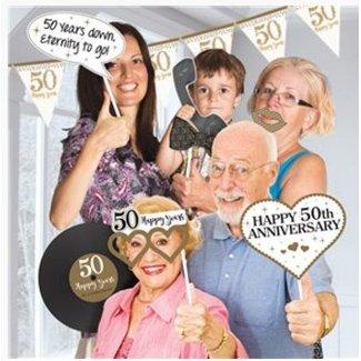 Foto booth 50 jaar getrouwd