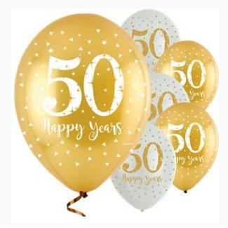 50 jaar getrouwd ballonnen