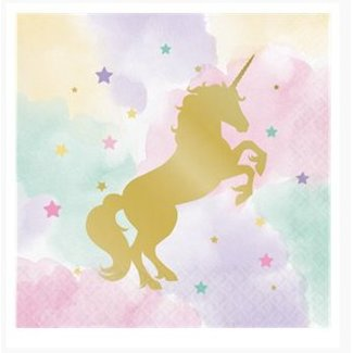 Unicorn pastel servetten