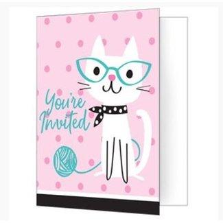 Purr-fect kat uitnodigingen