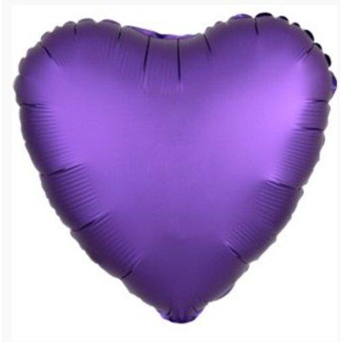 Hart ballon paars satijn