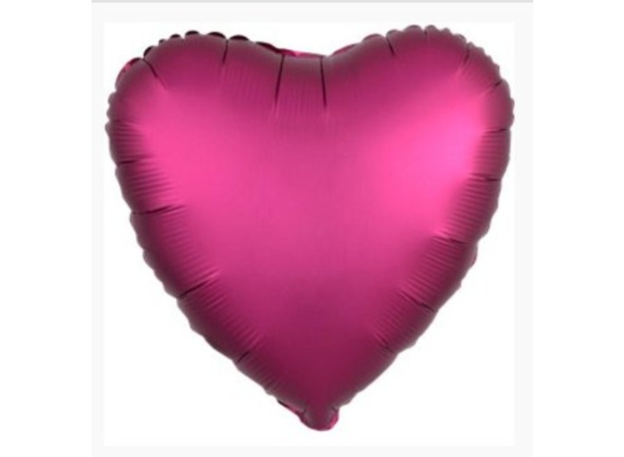 Hart ballon roze satijn