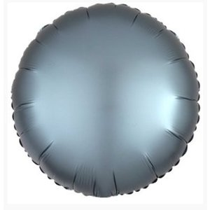 Staal blauw folie ballon