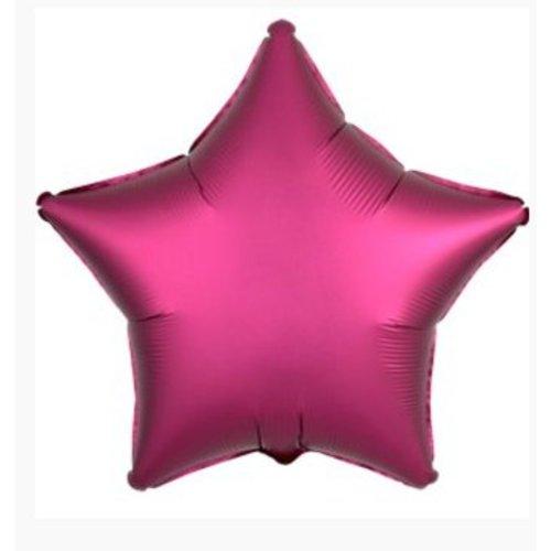 Ster ballon roze satijn