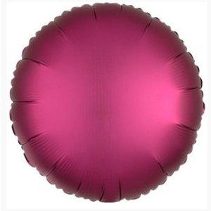 Roze satijn folie ballon