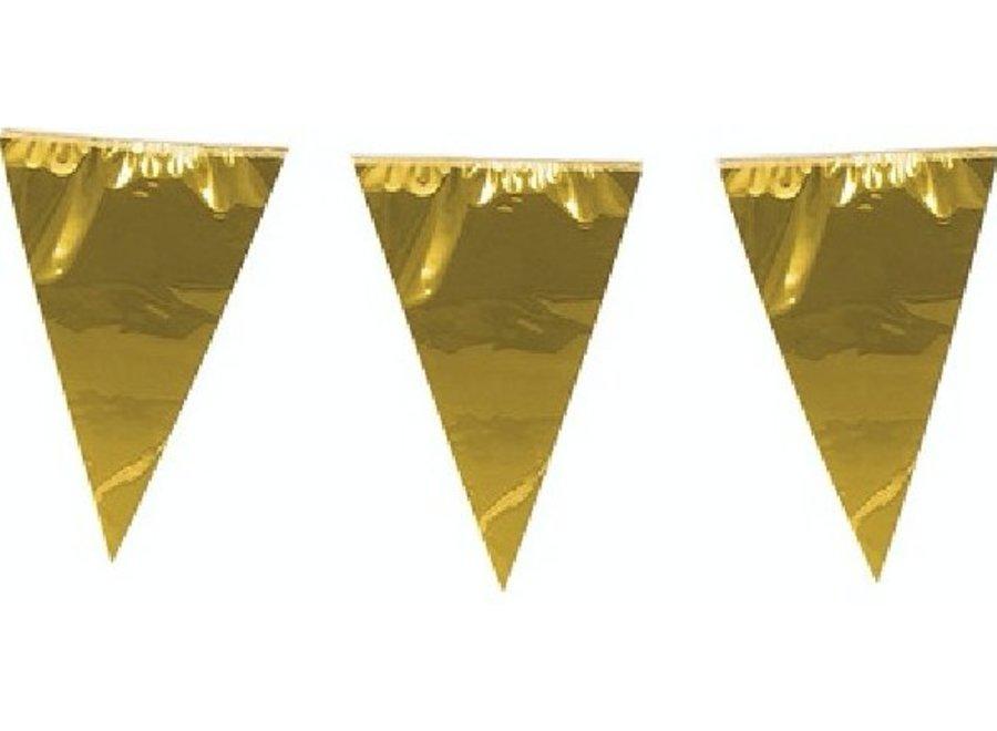 Metallic goud vlaggetjes