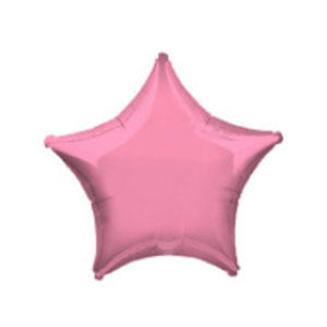 Metallic roze ster ballon