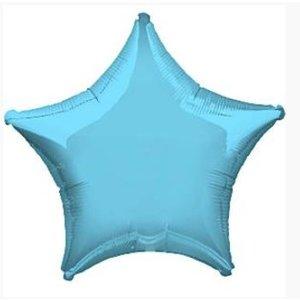 Licht blauwe ster ballon shine