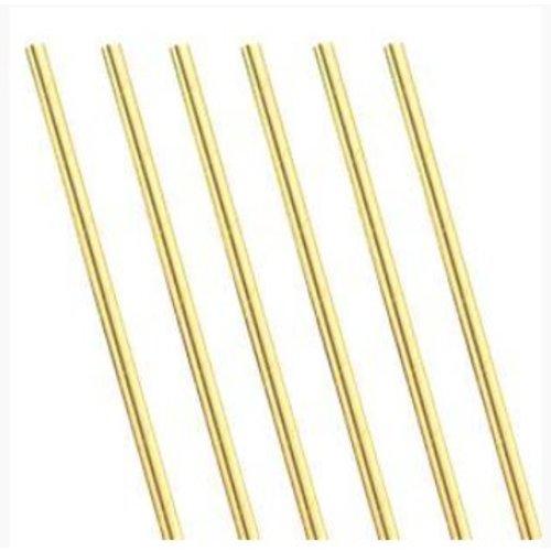 Metallic goud papieren rietjes