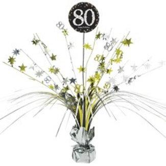 80 jaar tafel decoratie goud