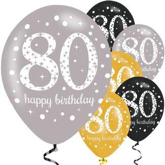 80 jaar ballonnen goud