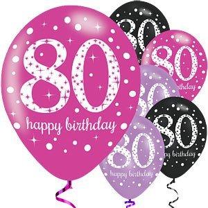 80 jaar ballonnen roze