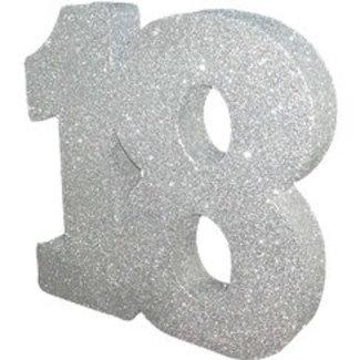 18 jaar tafel versiering zilver