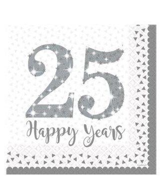 25 jaar getrouwd servetten