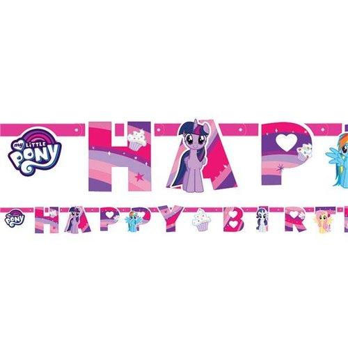 Amscan  My little pony happy birthday slinger roze