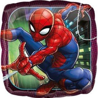 Spiderman folie ballon vierkant