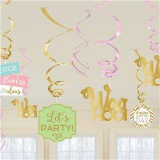 Confetti fun pastel swirls