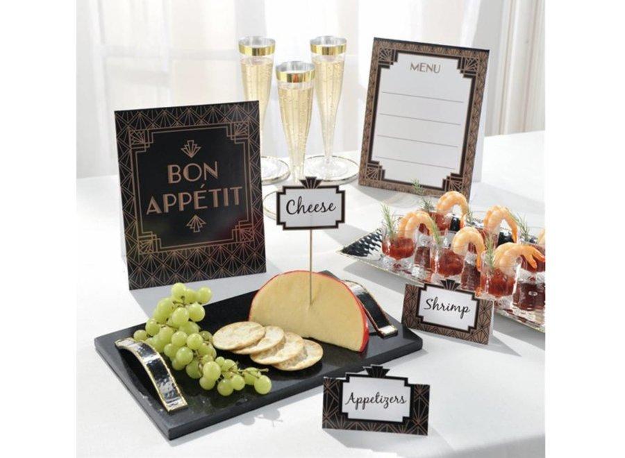 Gold glamour buffet set