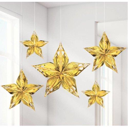 Gold glamour metallic sterren