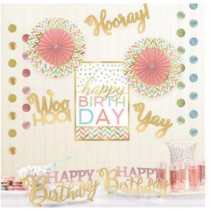 Pastel Hooray versiering pakket
