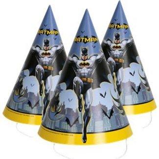 Batman feesthoedjes geel