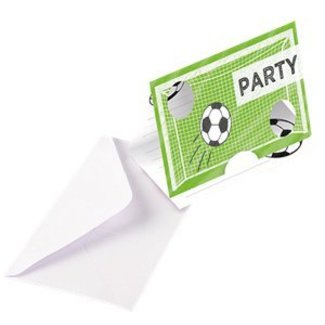Voetbal veld uitnodigingen