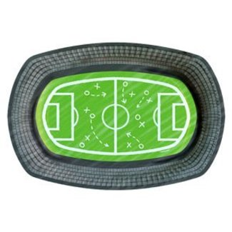Voetbal serveer schaal