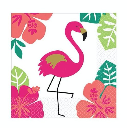 Aloha flamingo servetten