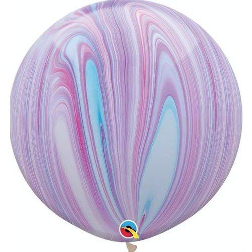 Marble XL ballonnen lila