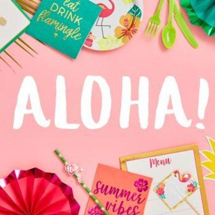 Aloha feestartikelen, versiering en decoratie