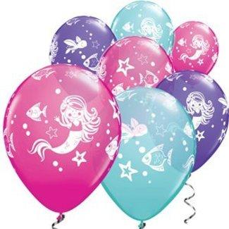 Magical mermaid ballonnen roze - paars