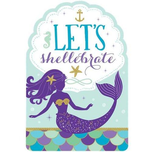 Sparkle mermaid uitnodigingen