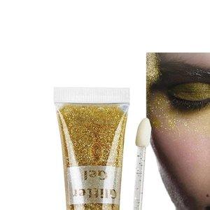 Metallic goud glitter make-up