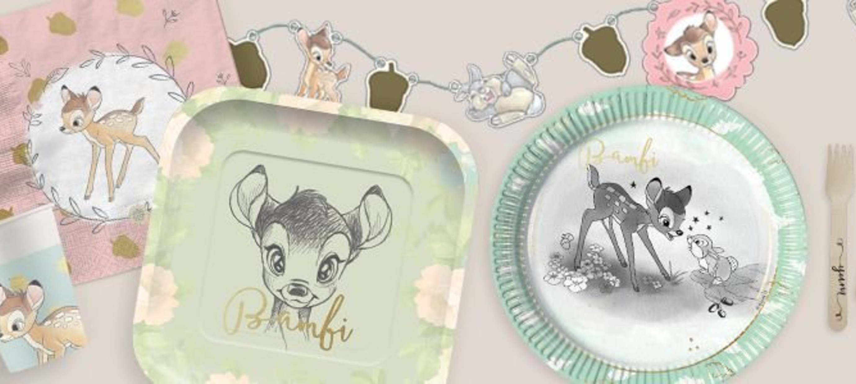 Bambi feestartikelen | Brand new
