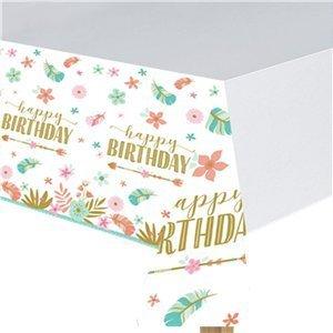 Boho happy birthday tafelkleed