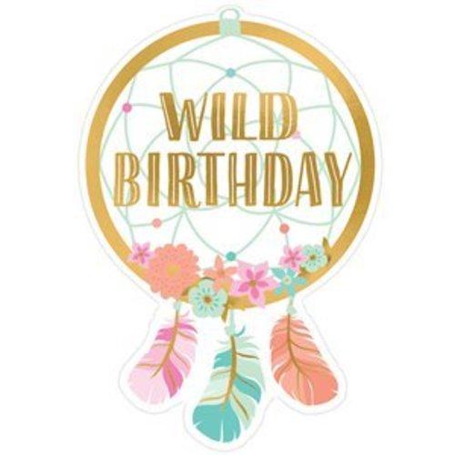Boho happy birthday uitnodigingen