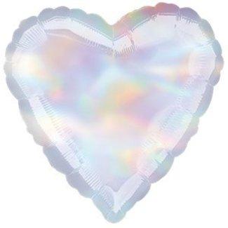 Iridescent hart ballon