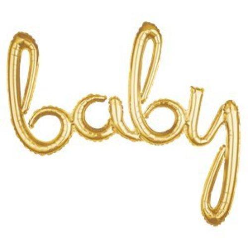 Baby tekst ballon hand geschreven