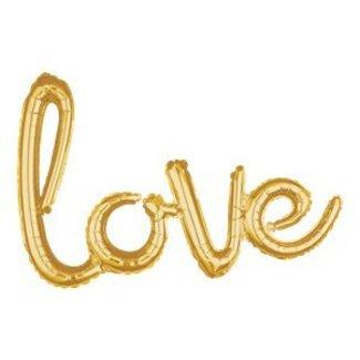 Love tekst ballon hand geschreven
