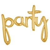 Party tekst ballon hand geschreven