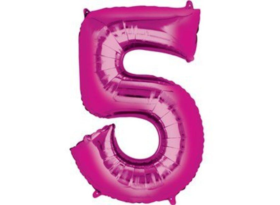 Cijfer ballon roze