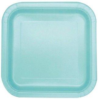 Mint groene vierkante borden
